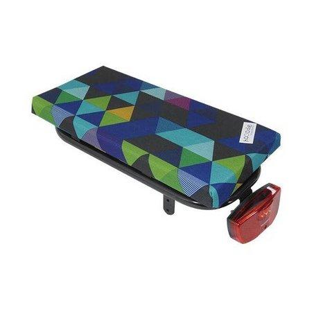 Hooodie Cushie Colored Triangles - zacht en opvallend fietskussentje voor op bagagedrager
