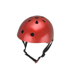 Kiddimoto Kinderhelm Metallic Red Small
