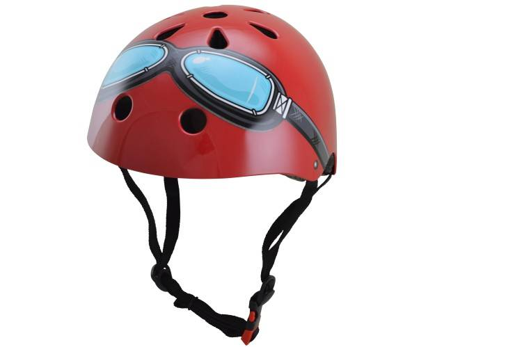 Kinderhelm Red Goggle Small