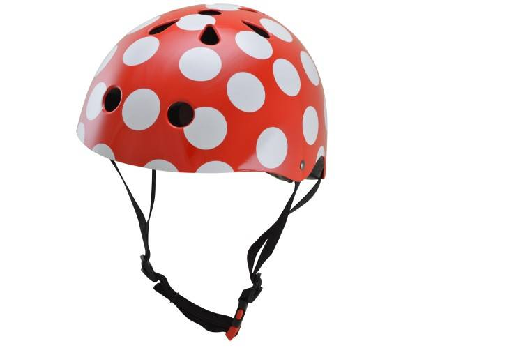 Kinderhelm Red Dotty Small