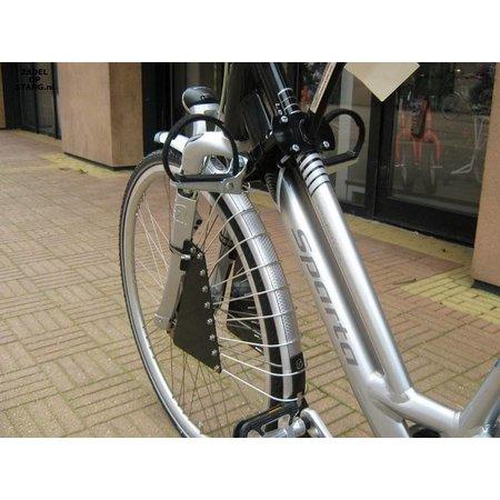 Zadel op Stang Model Nr. 3 voor oversized damesfiets met aluminium dubbelen stang