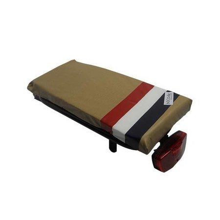 Hooodie Cushie PTT - zacht en retro fietskussentje voor op bagagedrager