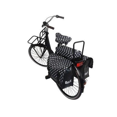 Hooodie Big Cushie Stars - zacht en vrolijk fietskussen voor op bagagedrager