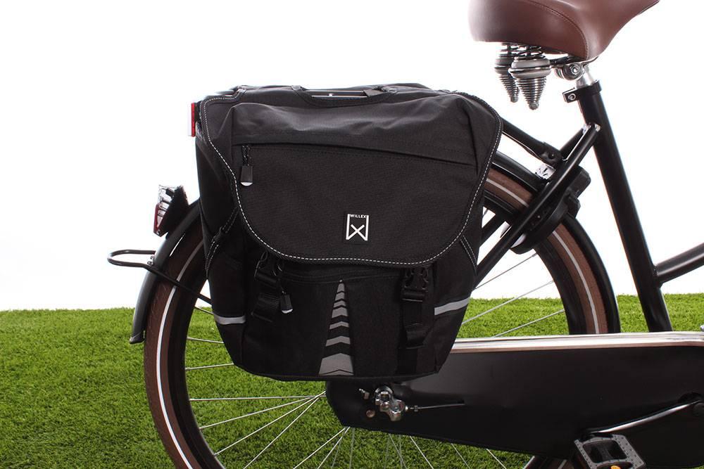 Dubbele fietstas Bagagetas S 1200 20L Zwart