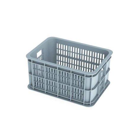 Basil Fietskrat Crate 25L Silver cloud voor MIK en Racktime