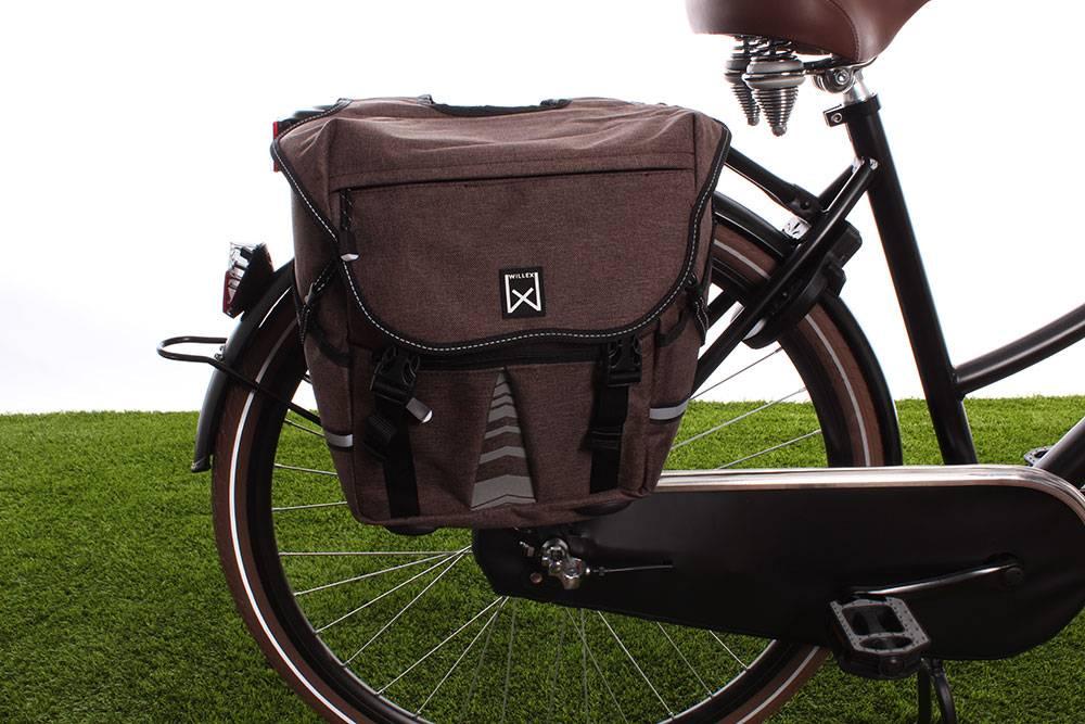 Dubbele fietstas Bagagetas S 1200 20L Bruin