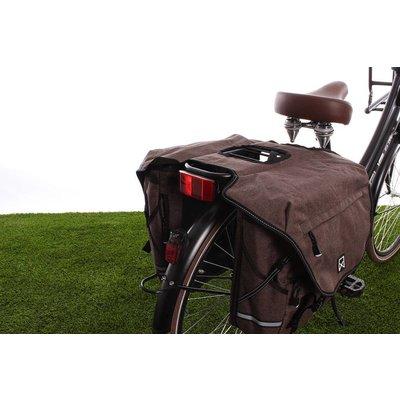 Willex Dubbele fietstas Bagagetas XL 1200 50L Bruin