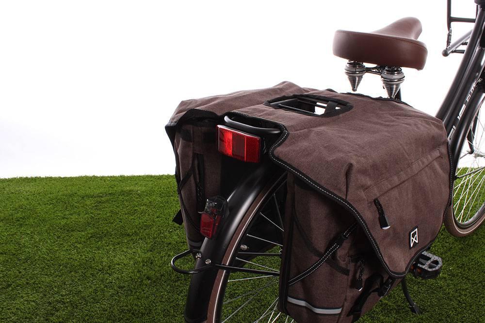 Dubbele fietstas Bagagetas XL 1200 50L Bruin