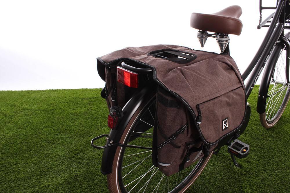 Dubbele fietstas Bagagetas 1200 28L Bruin