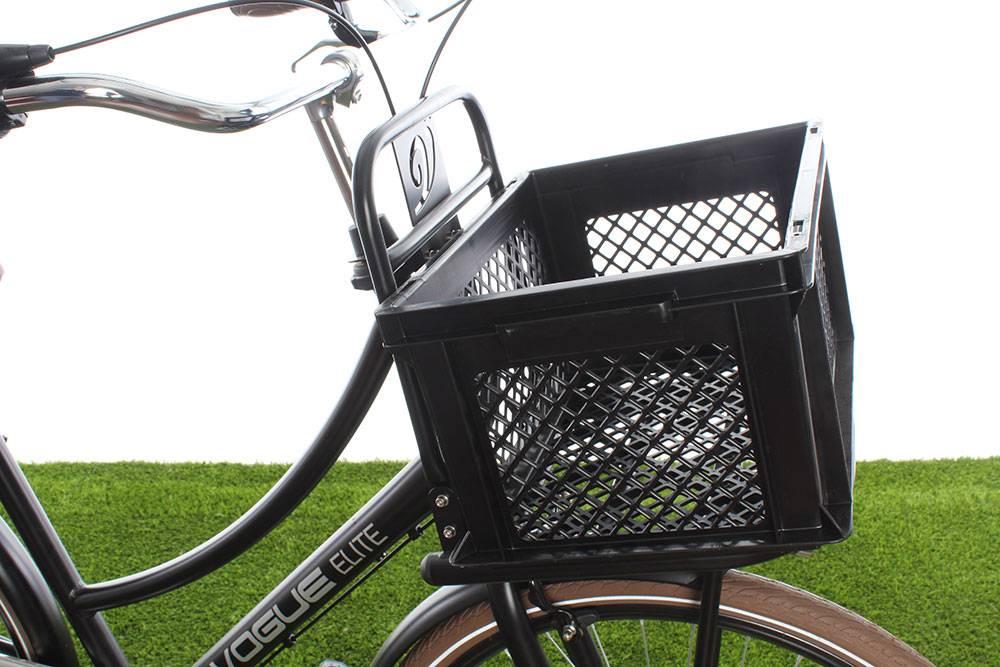 Fietskrat Kunststof Zwart M - prima krat voor lage prijs