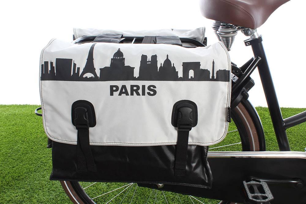 Dubbele fietstas Classic Parijs