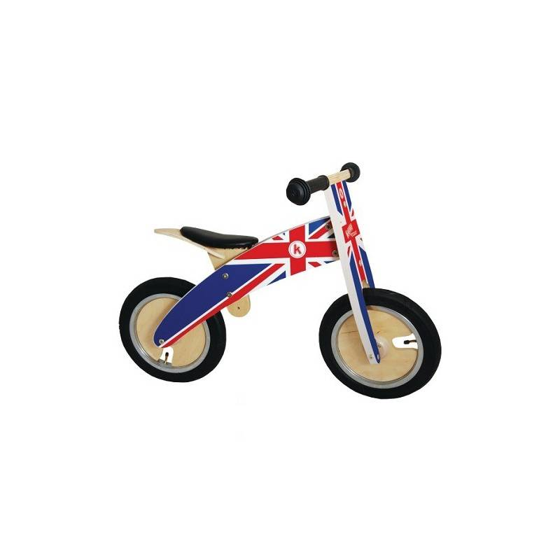 Loopfiets hout Union Jack