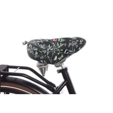 Basil Zadeldekje Wanderlust Charcoal - waterafstotende, natuurrijke zadelhoes fiets