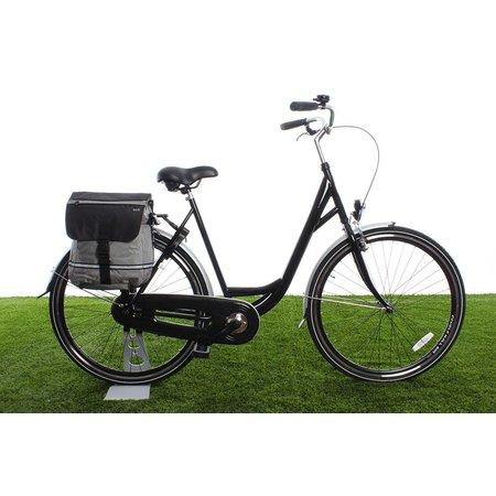 Beck Enkele fietstas YES! Zilver | fijne details | sportief én woon-werk