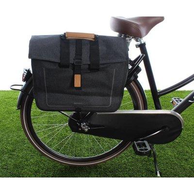 Basil Urban Dry Business bag Charcoal mêlee 20L