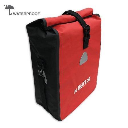 Lynx Enkele fietstas Single Pannier bag 16L Rood-zwart