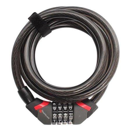DoubleLock Kabelslot Coil Cable Combo 185 CM  - 12 MM  met cijfercode
