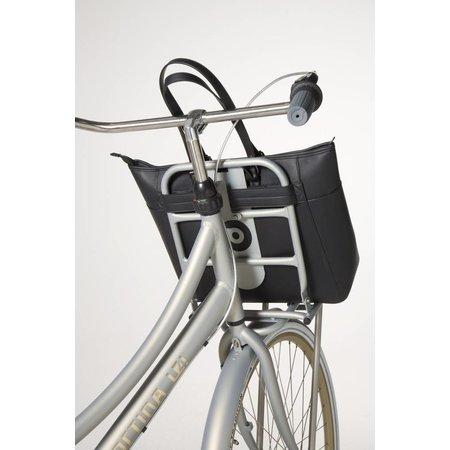 Cortina Milan Handbag Black 23L - handtas speciaal voor voordrager