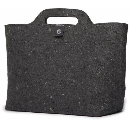 Cortina Sofia Shopper Bag 18L Black/Antra - recycled - op voordrager