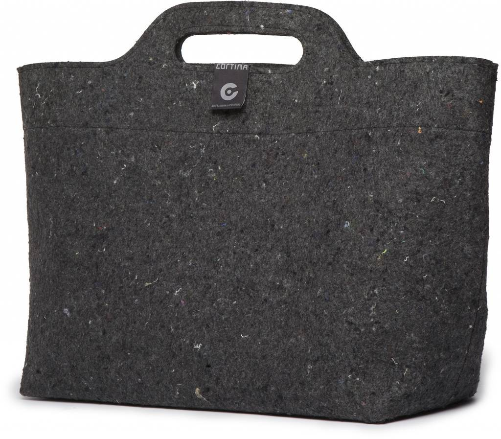e7b8aba2731 Cortina Sofia Shopper Bag 18L Black/Antra - recycled - op voordrager