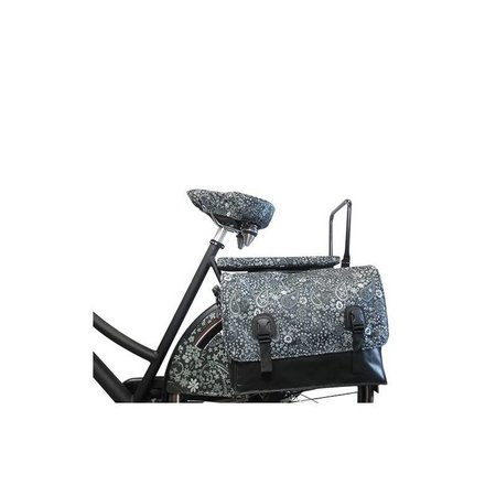 Hooodie Big Cushie Blackish Pattern - zacht en stylish fietskussen voor op bagagedrager
