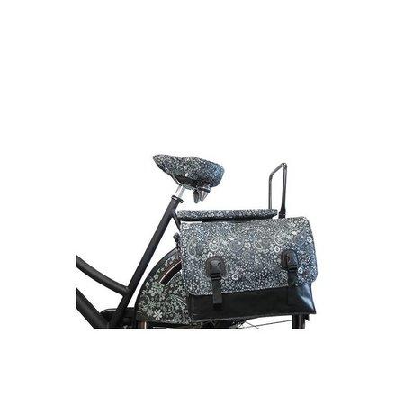 Hooodie Cushie Blackish Pattern - zacht en hip fietskussentje voor op bagagedrager