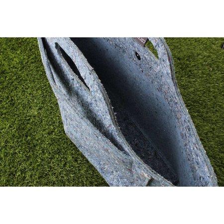 Cortina Sofia Shopper Bag 18L Denim Blue - van recyclede spijkerbroeken - voor op voordrager