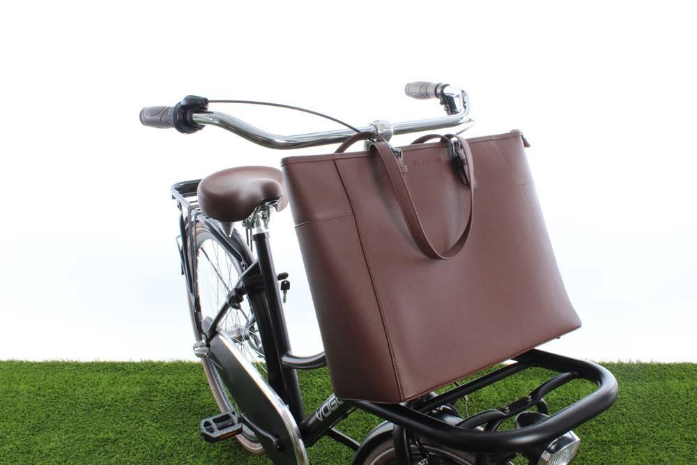 Milan Handbag Brown 23L - handtas voor voordrager