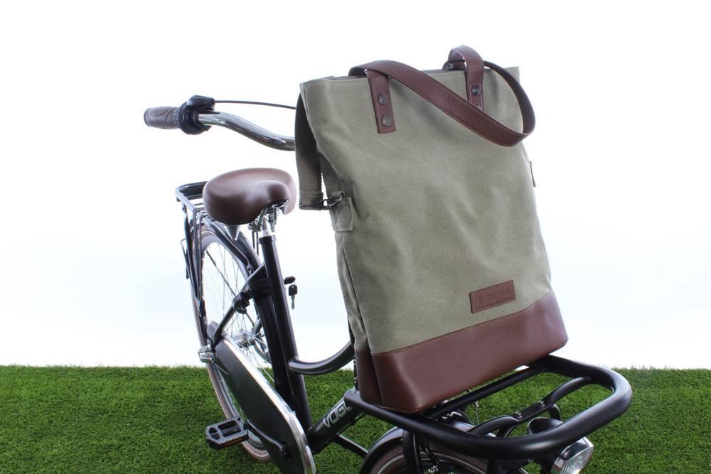 Oslo Shopper Bag 18L Army green/Brown