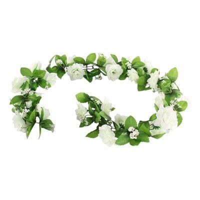 Basil Bloemenstreng Flower Garland witte rozen