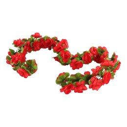 Basil Bloemenstreng Flower Garland Rood