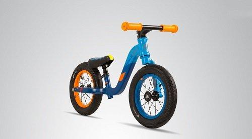 Loopfiets aluminium PedeX 01 - vanaf 2 jaar - oranje met blauw