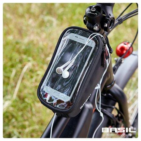 Basil Frametas Sport Design 1 liter Graphite met smartphone venster