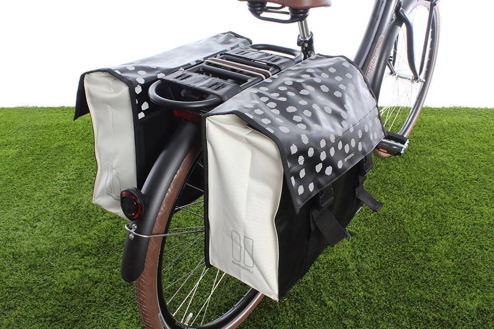 Urban Load Dubbele fietstas 48-53L Zwart-wit