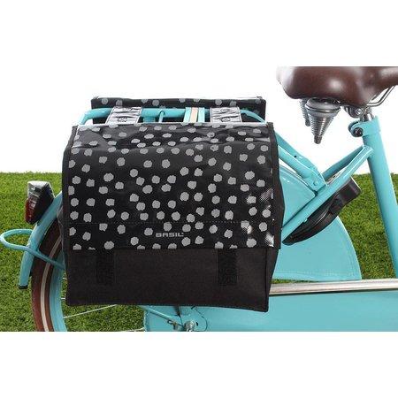Basil Urban Load Dubbele fietstas 25L Zwart-wit