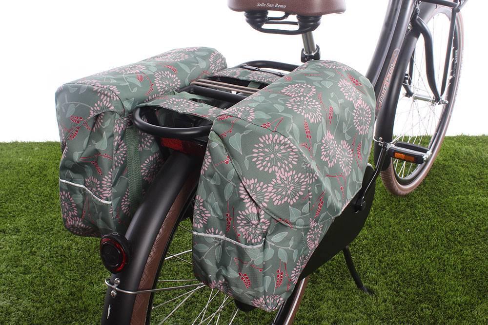 Dubbele fietstas Joli Double 37L Zarah Green