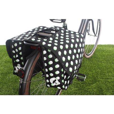 Urban Proof Dubbele fietstas 40L Stippen Zwart