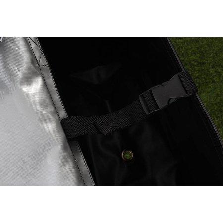 De Poort TwoTone Zilver/matzwart 55L