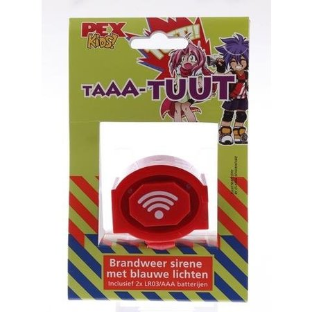PexKids toeter Brandweersirene Taaa-Tuut met blauwe lichten