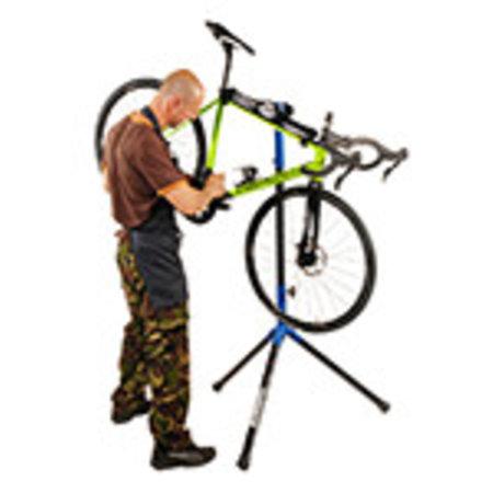 BiciSupport fiets reparatiestandaard Flash zwart-blauw