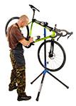 fiets reparatiestandaard Flash zwart-blauw