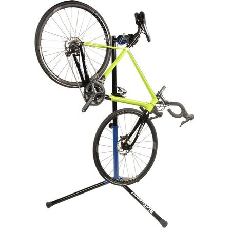 BiciSupport fiets reparatiestandaard Folding Clamp XL zwart-blauw
