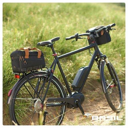 Basil Miles Trunkbag 7L MIK Bagagedragertas Black brown