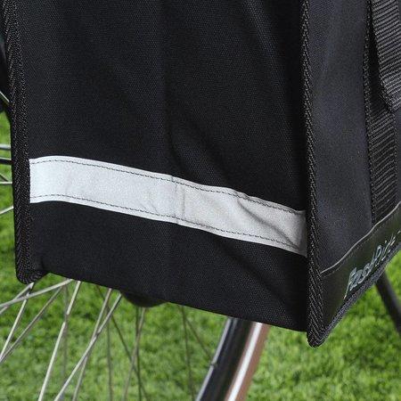 Fastrider Dubbele fietstas Canvas 36 Led 47,5L Zwart