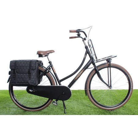 Fastrider Dubbele fietstas Brix 36L Zwart