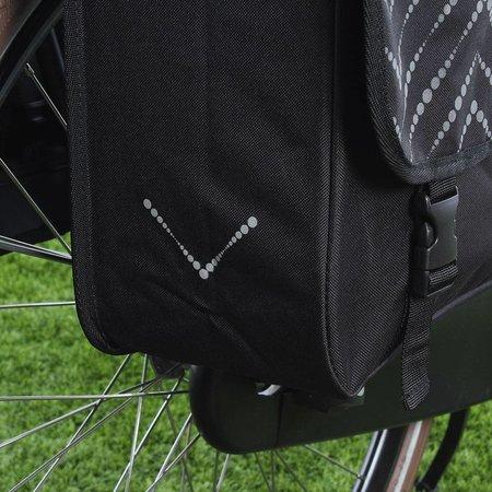 Fastrider Dubbele fietstas Yuka 31L Zwart