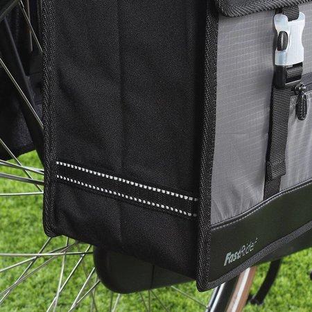 Fastrider Dubbele fietstas Led Hybride Groot 98 35L Zwart-grijs