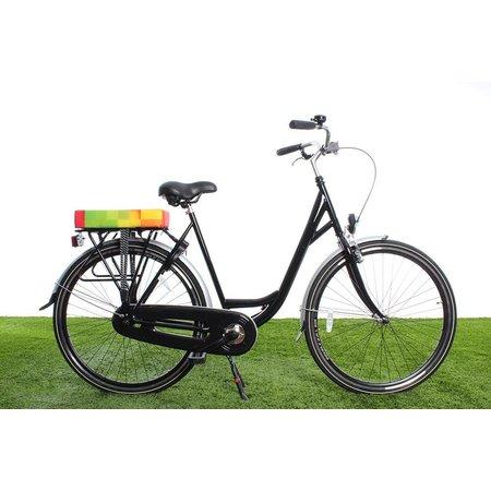 Hooodie Big Cushie Blocks - zacht en fleurig dik fietskussen voor op bagagedrager