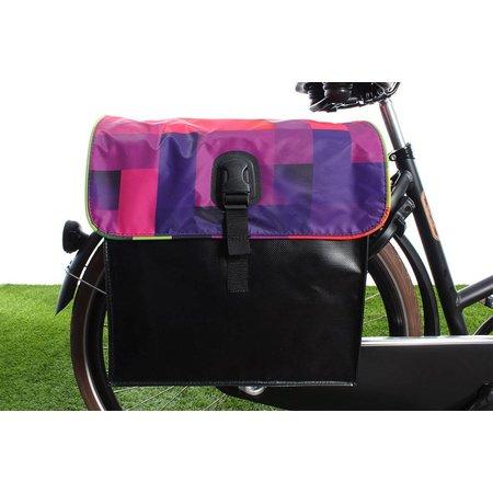 Beck Dubbele fietstas 35L Small Blocks