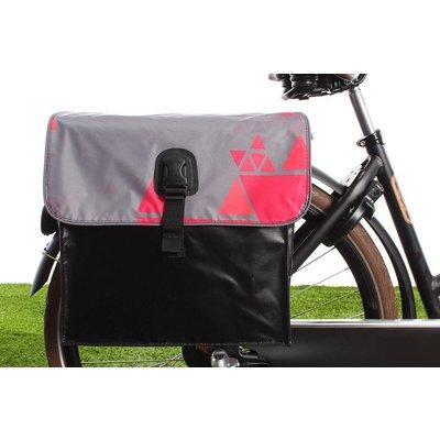 Beck Dubbele fietstas 35L Small Tangram